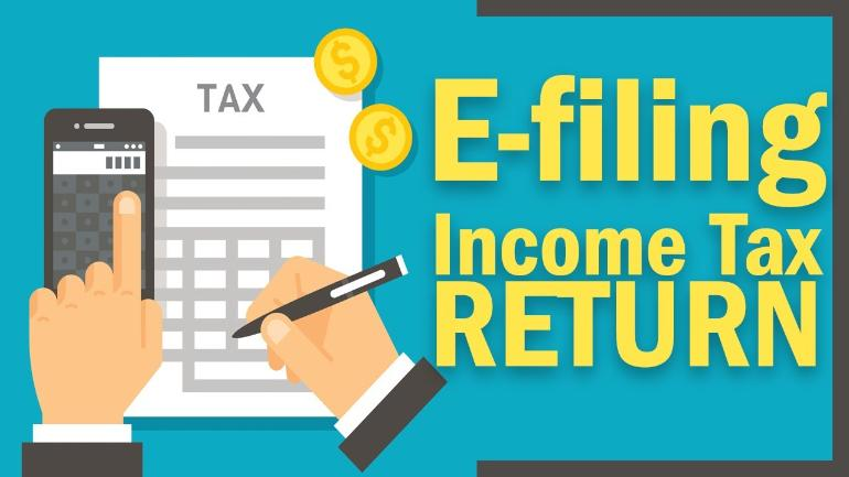 E filling income tax return